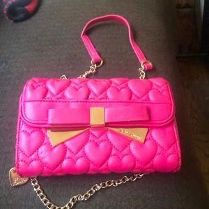 Authentic Betsey Johnson Crossbody chain bag